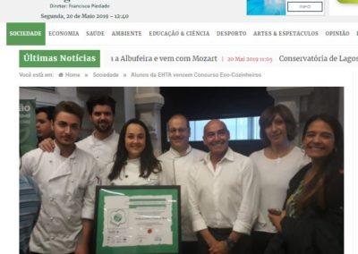 Alunos da EHTA vencem Concurso Eco-Cozinheiros, in Diário Online Região Sul